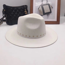 Load image into Gallery viewer, Hannah woolen white fedora