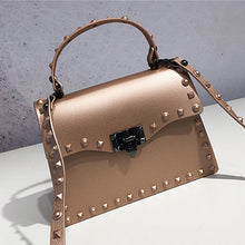 Load image into Gallery viewer, Serena Solid Studded handbag