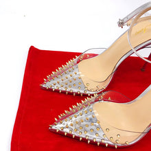 Load image into Gallery viewer, Pertunia gold studded stiletto