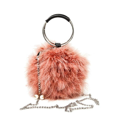 Daphne fur sling bag