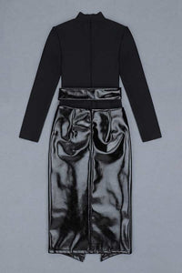 Quinn PU skirt two-piece