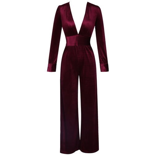Peyton long sleeved ribbed jumpsuit