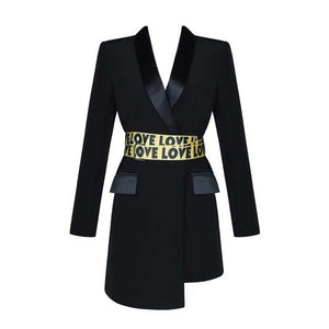 Kate asymmetric blazer dress