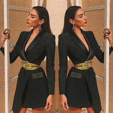 Load image into Gallery viewer, Kate asymmetric blazer dress