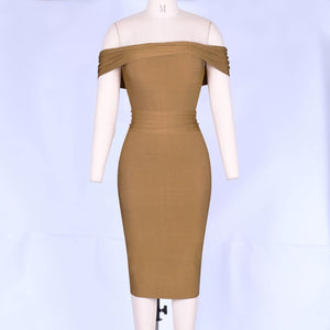 Zyanna off-shouder bandage dress