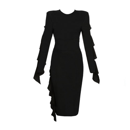 Nia long sleeve midi dress
