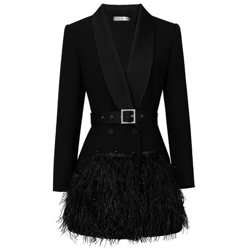 Scarlett feather blazer dress