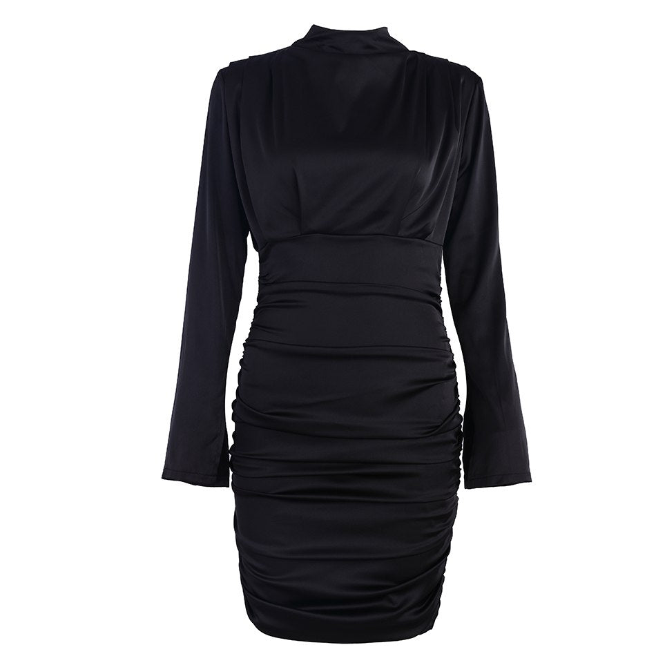 Tori ruched mini party dress