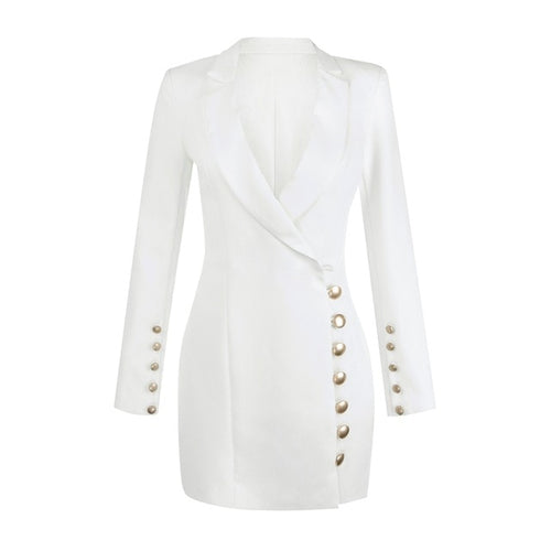 Tiana gold button blazer dresss