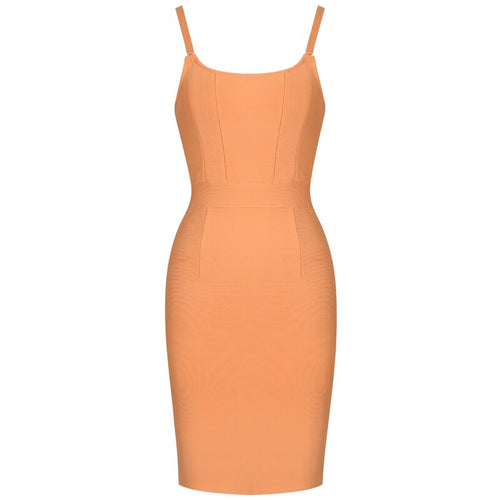 Jen peach mini bandage dress