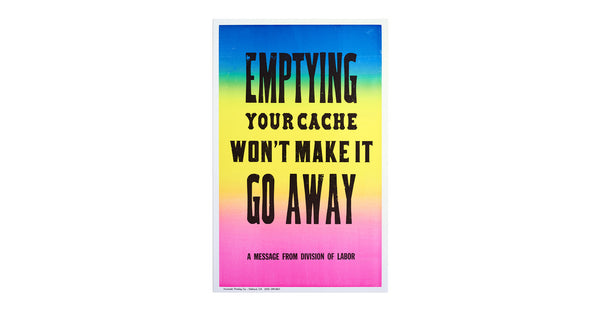 New Rules of Work Poster: Cache