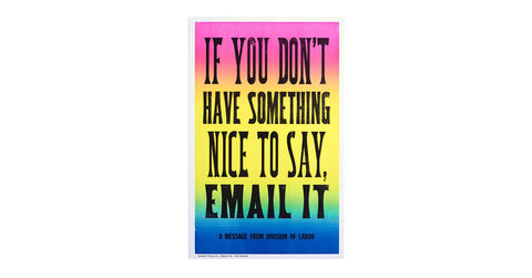 New Rules of Work Poster: Email