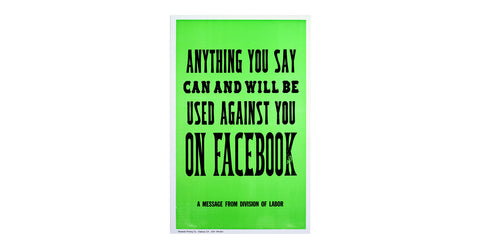 New Rules of Work Poster: Facebook