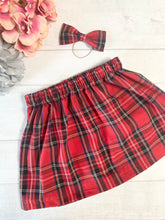 Load image into Gallery viewer, Holly Tartan Skirt