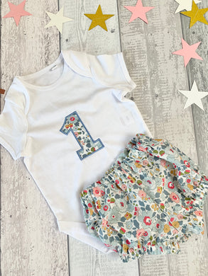 1st Birthday Outfit - Vest & Bloomers