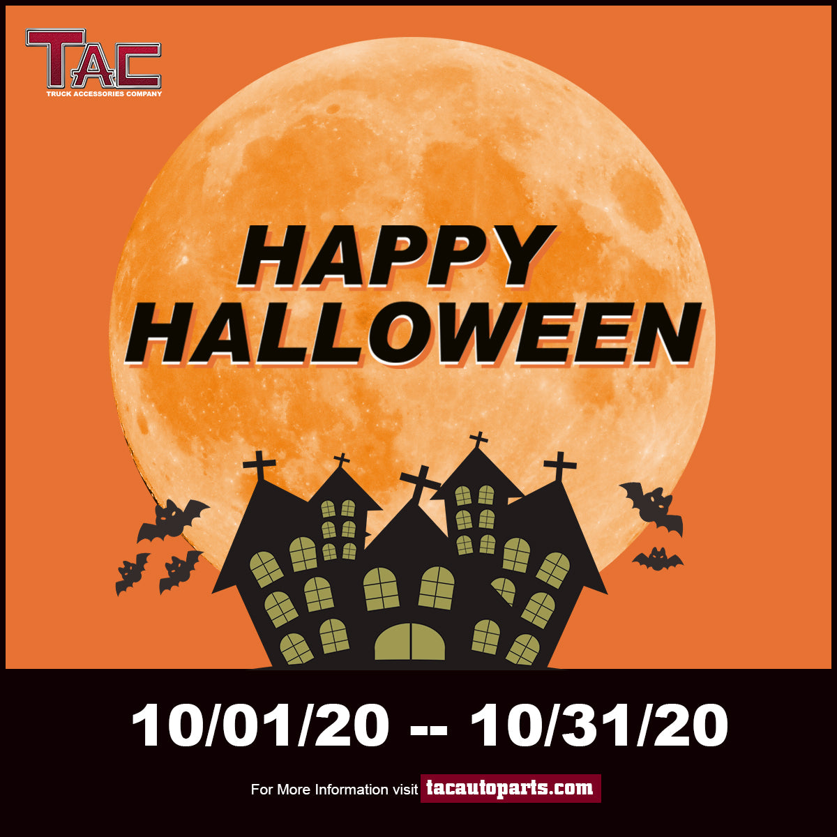 TAC Halloween Promotion from October 1st to October 9th