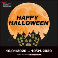 TAC Halloween Promotion 10% off from October 21th to October 31th