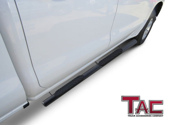 "TAC Fine Texture 4"" Side Steps for 2019-2021 Chevy Silverado/GMC Sierra 1500 
