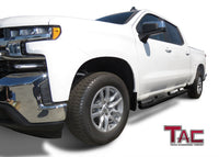"TAC Gloss Black 5"" Oval Bend Side Steps For 2019-2020 Chevy Silverado/GMC Sierra 1500 