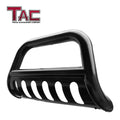"TAC Gloss Black 3"" Bull Bar For 2019-2021 Chevy Silverado 1500 (Excl. 2019 Silverado 1500 LD and Diesel Engine with Tow Hooks Models) Truck Front Bumper Brush Grille Guard Nudge Bar"