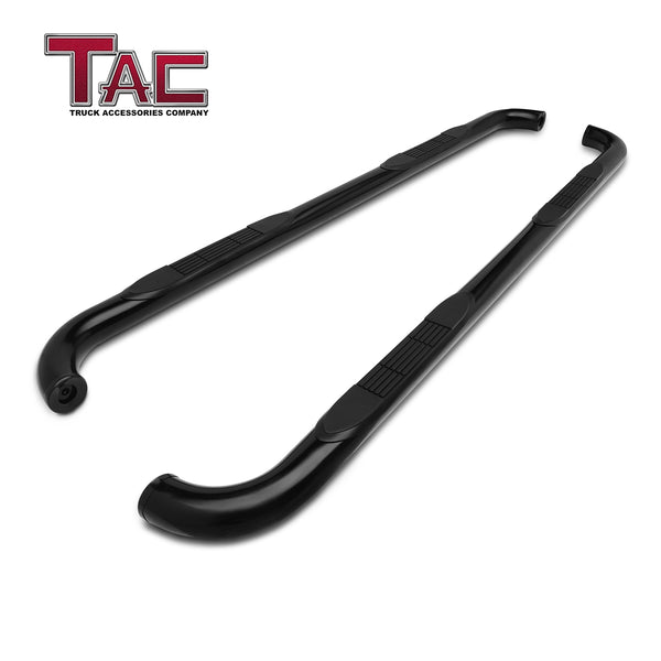 "TAC Gloss Black 3"" Side Steps For 2019-2020 Chevy Silverado/GMC Sierra 1500 Double Cab 