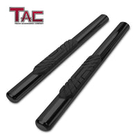 "TAC Gloss Black 4"" Side Steps for 2007-2018 Jeep Wrangler JK 2 Door SUV 