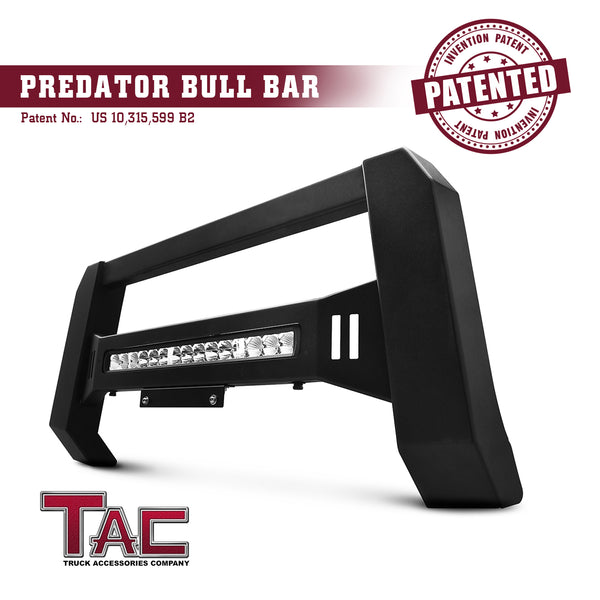 TAC Predator Modular Bull Bar with LED Light For 2009-2018 Dodge Ram 1500 (Excl. Rebel & Warlock Trims / Incl. 19-20 RAM 1500 Classic) Truck Front Bumper Brush Grille Guard Nudge Bar