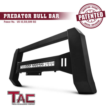 TAC Predator Modular Bull Bar with LED Light For 2015-2021 Chevy Colorado (Excl. ZR2) / GMC Canyon Truck Front Bumper Brush Grille Guard Nudge Bar