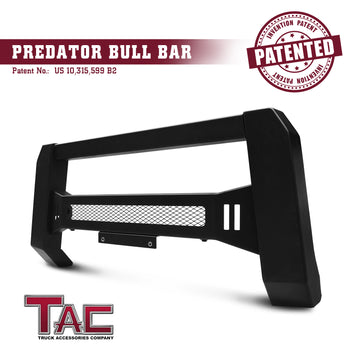 TAC Predator Modular Bull Bar Mesh Version For 2015-2021 Chevy Colorado (Excl. ZR2) / GMC Canyon Truck Front Bumper Brush Grille Guard Nudge Bar