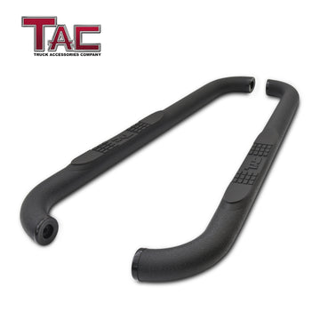 "TAC Heavy Texture Black 3"" Side Steps for 2007-2018 Jeep Wrangler JK 2 Door Truck 