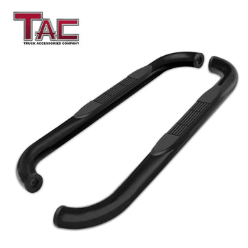 "TAC Gloss Black 3"" Side Steps For 2019-2021 Chevy Silverado/GMC Sierra 1500 Regular Cab 