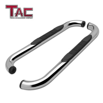 "TAC Stainless Steel 3"" Side Steps For 2019-2020 Chevy Silverado/GMC Sierra 1500 Regular Cab 