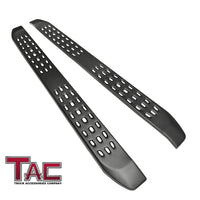 TAC Fine Texture Frigate Running Boards for 2019-2021 Chevy Silverado/GMC Sierra 1500 | 2020-2021 Silverado/Sierra 2500/3500 HD Double Cab Truck | Side Steps | Nerf Bars | Side Bars