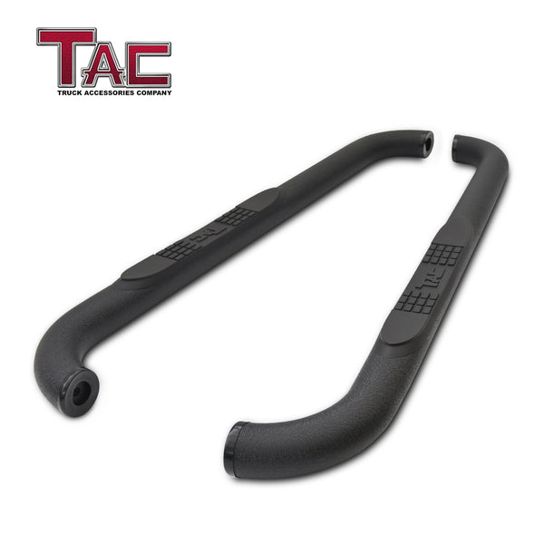 "TAC Heavy Texture Black 3"" Side Steps for 2019-2020 Chevy Silverado/GMC Sierra 1500 Regular Cab 