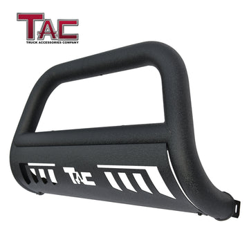 "TAC Heavy Texture Black 3"" Bull Bar for 2020-2021 Jeep Gladiator/2018-2021 Jeep Wrangler JL (Excl. plug-in hybrid models) Pickup Truck Front Bumper Brush Grille Guard Nudge Bar"
