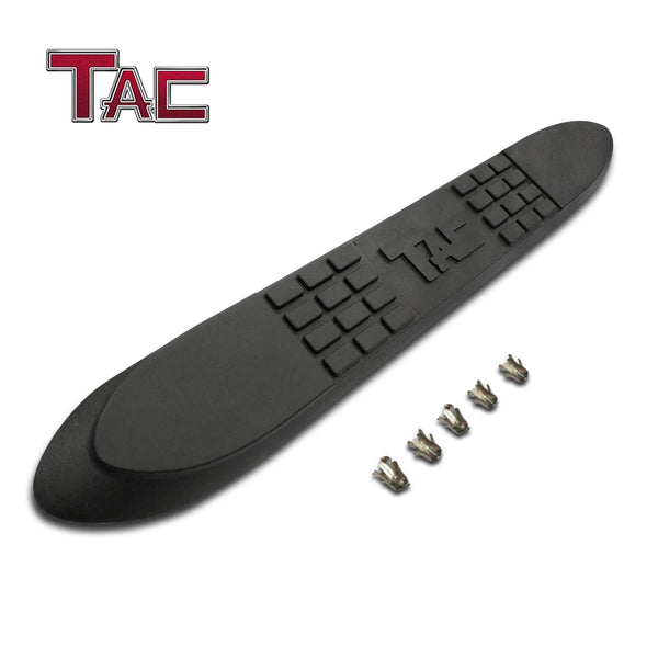 "TAC Replacement Step Pad with TAC Logo for 3 Inch Round Tube Heavy Texture Black Side Steps Running Board Side Bar Nerf Bar – 1 Step Pad with 5 Clips (Only Fit TAC Brand 3"" Side Steps)"