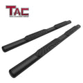 "TAC Fine Texture Black 4"" Side Steps for 2009-2018 Dodge Ram 1500 Quad Cab (Incl. 2019-2021 Ram 1500 Classic) Truck 