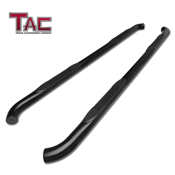 "TAC Gloss Black 3"" Side Steps For 2007-2021 Toyota Tundra Crew Max 
