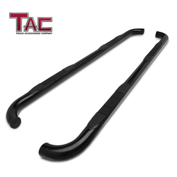 "TAC Gloss Black 3"" Side Steps For 2019-2021 Chevy Silverado/GMC Sierra 1500 