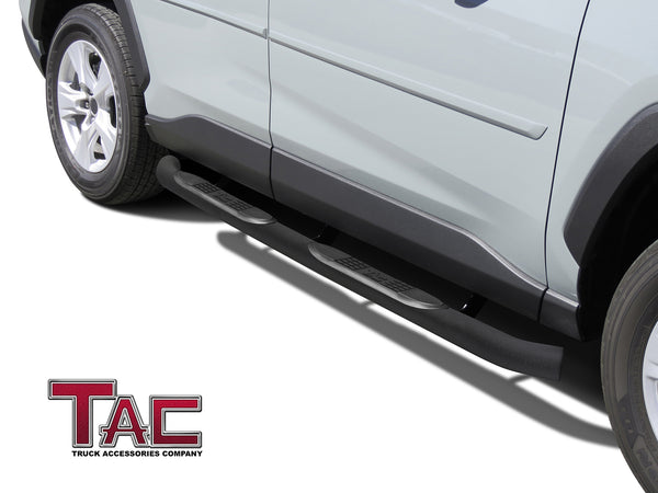 "TAC Heavy Texture Black 3"" Side Steps For 2019-2021 Toyota RAV4 SUV 