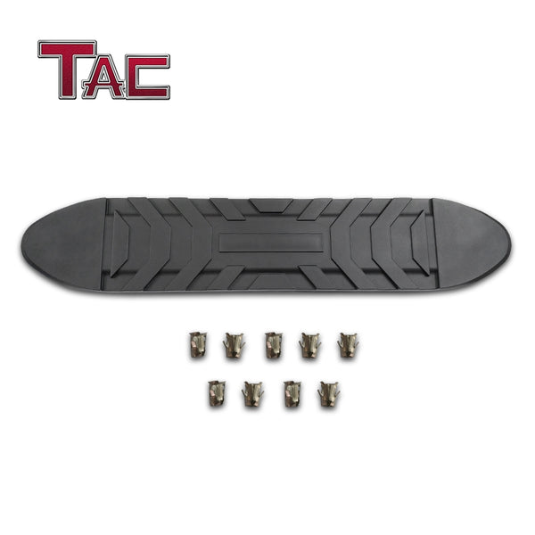 "TAC Replacement Step Pad for 5 Inch Oval Tube Side Steps Running Board Side Bar Nerf Bar – 1 Step Pad with 9 Clips(Only Fit TAC Brand 5"" Side Steps)"