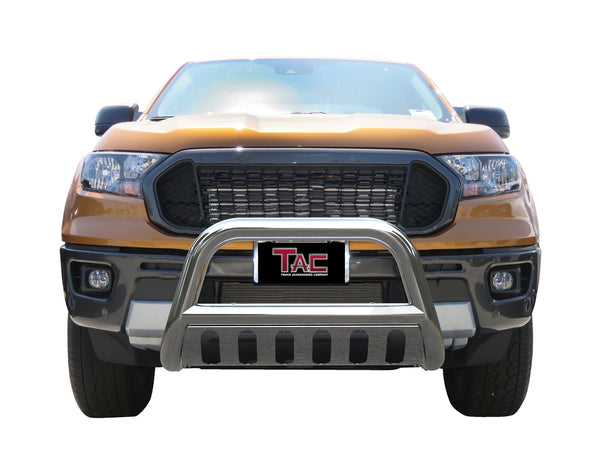 "TAC Stainless Steel 3"" Bull Bar for 2019-2021 Ford Ranger Truck Front Bumper Brush Grille Guard Nudge Bar"