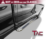 "TAC Stainless Steel 3"" Side Steps For 2019-2021 Dodge Ram 1500 Quad Cab (Excl. 2019-2021 RAM 1500 Classic) Truck 