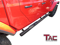 "TAC Fine Texture Black 4"" Side Steps for 2020-2021 Jeep Gladiator Truck 