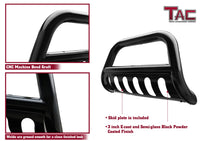 "TAC Gloss Black 3"" Bull Bar For 2010-2018 Jeep Wrangler JK (Exclude 2018 Wrangler JL Models) SUV Front Bumper Brush Grille Guard Nudge Bar"