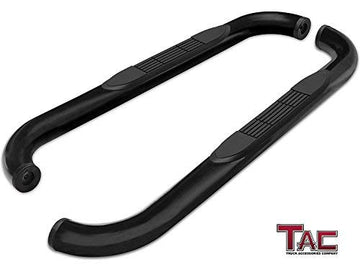 "TAC Gloss Black 3"" Side Steps For Chevy Silverado/GMC Sierra 1999-2019 1500 Models & 1999-2019 2500/3500 Models Regular Cab (Excl. C/K ""Classic"") (Body Mount) Truck 