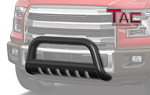 "TAC Gloss Black 3"" Bull Bar Fit 1999-2004 Ford F250 F350 F450 F550 Super Duty Truck/ 2000-2004 Ford Excursion SUV Front Bumper Brush Grille Guard Nudge Bar"