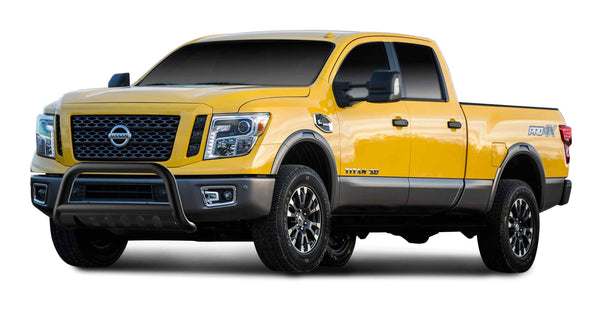 "TAC Gloss Black 3"" Bull Bar For 2016-2020 Nissan Titan XD Truck / 2012-2020 Nissan NV 1500 / 2500 / 3500 VAN Front Bumper Brush Grille Guard Nudge Bar"