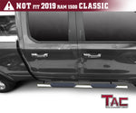 "TAC Stainless Steel 4"" Side Steps for 2019-2020 Dodge Ram 1500 Quad Cab (Excl. 19-20 RAM 1500 Classic) Truck 