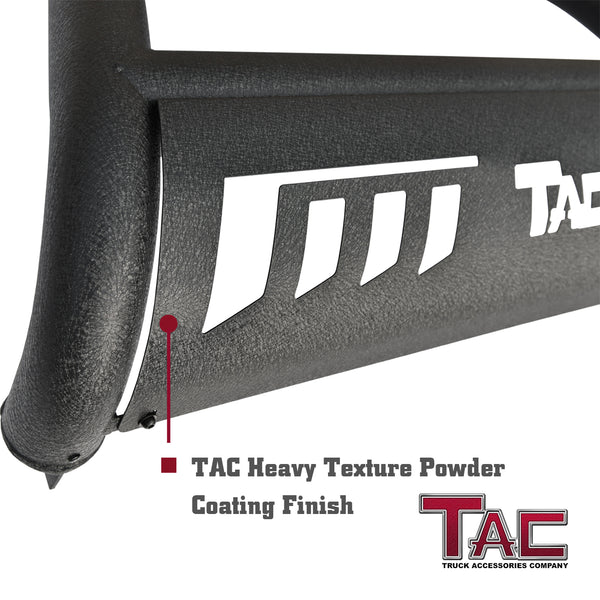 "TAC Heavy Texture Black 3"" Bull Bar for 2015-2021 Chevy Colorado (Exclude ZR2) / GMC Canyon Pickup Truck Front Bumper Brush Grille Guard Nudge Bar"